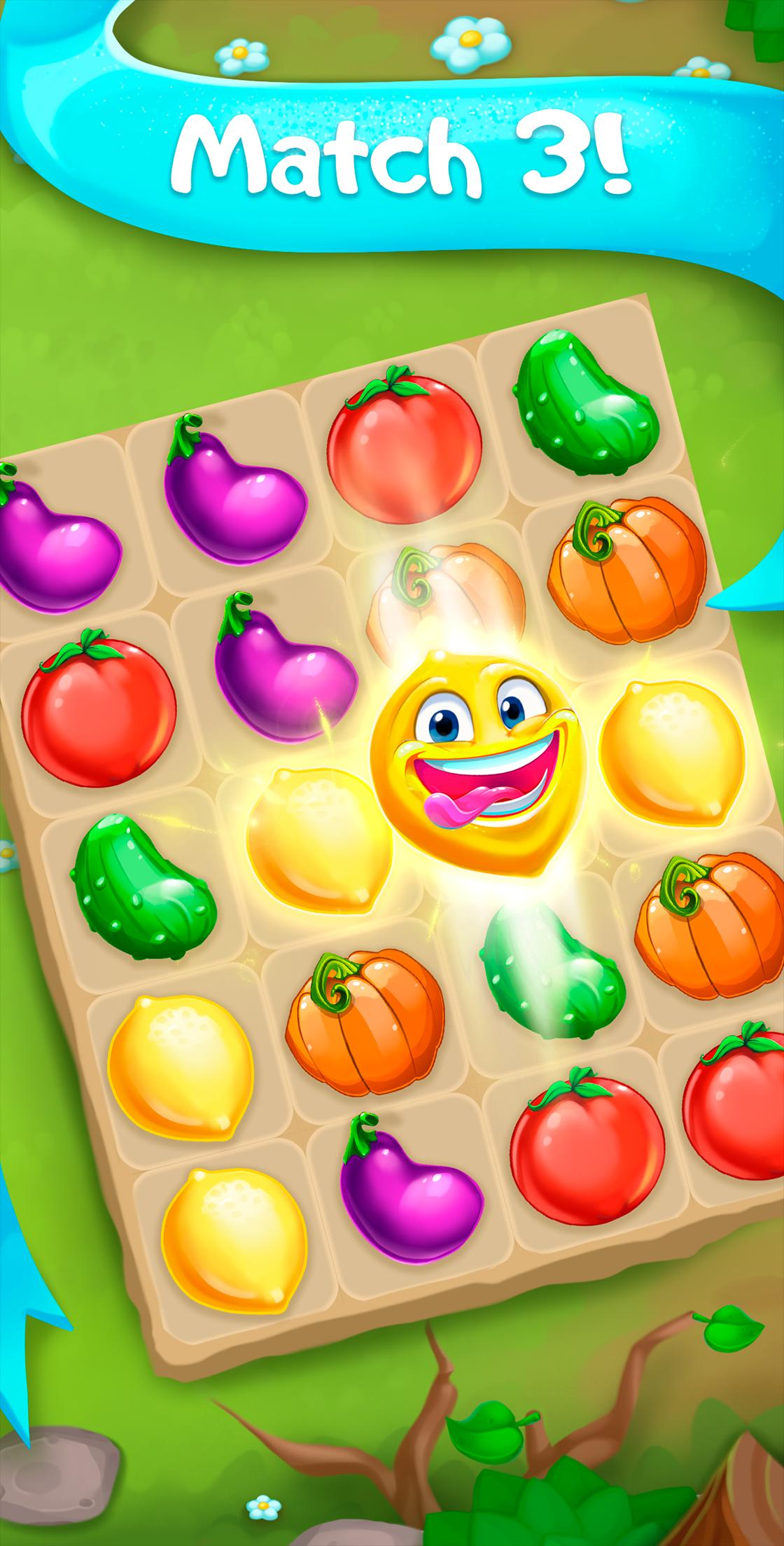 Funny Farm match 3 Puzzle game 1.53.0 Screenshot 1
