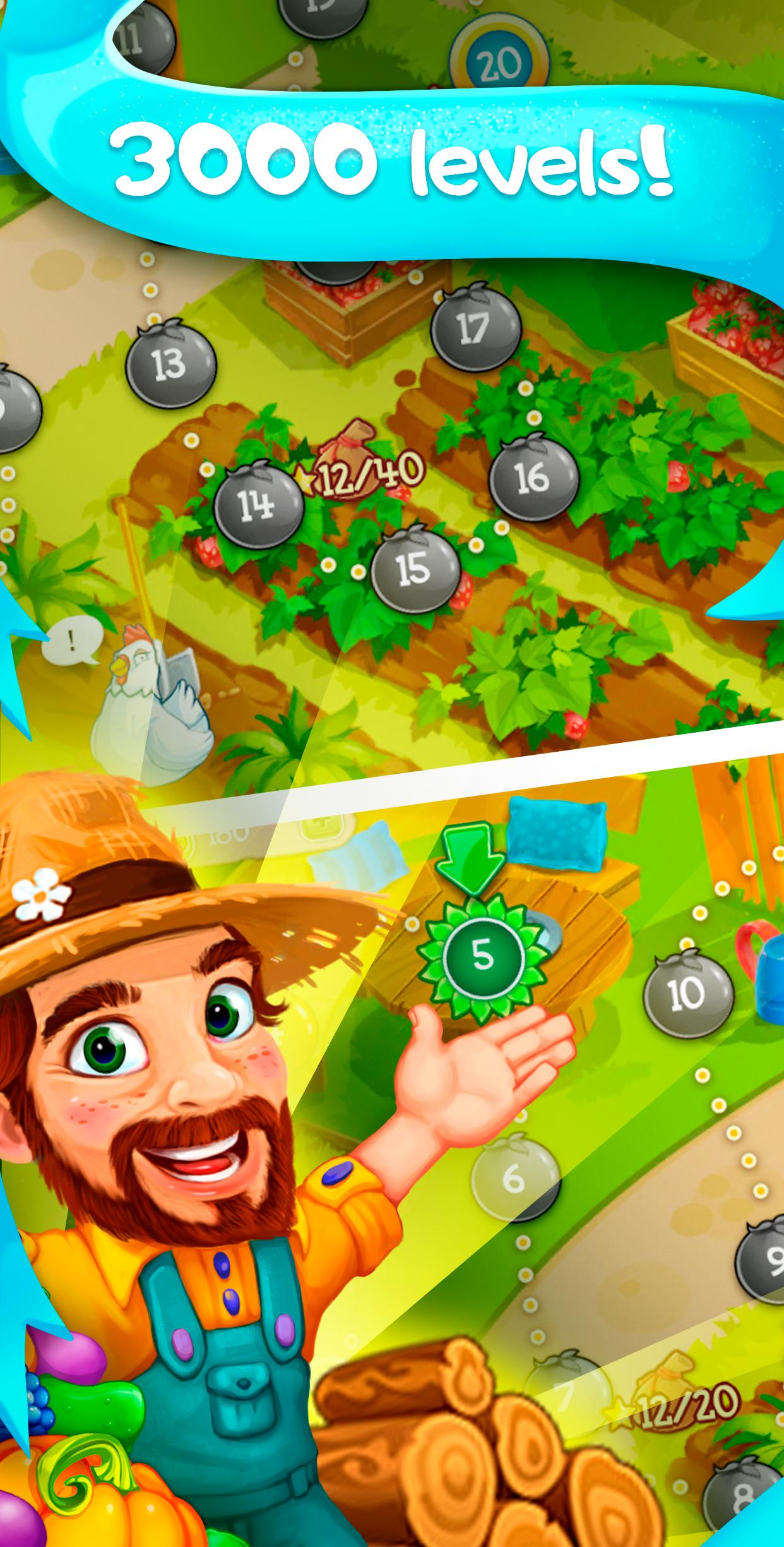Funny Farm match 3 Puzzle game 1.53.0 Screenshot 2