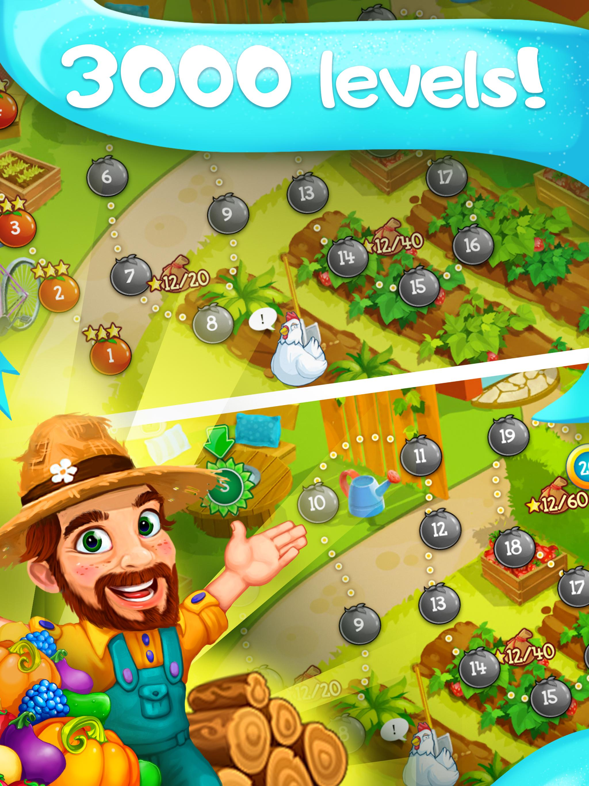 Funny Farm match 3 Puzzle game 1.53.0 Screenshot 7