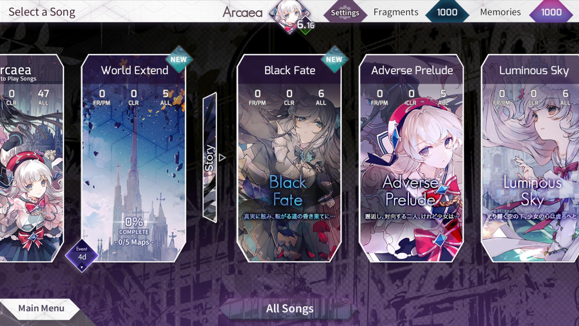 Arcaea New Dimension Rhythm Game 3.2.4 Screenshot 3