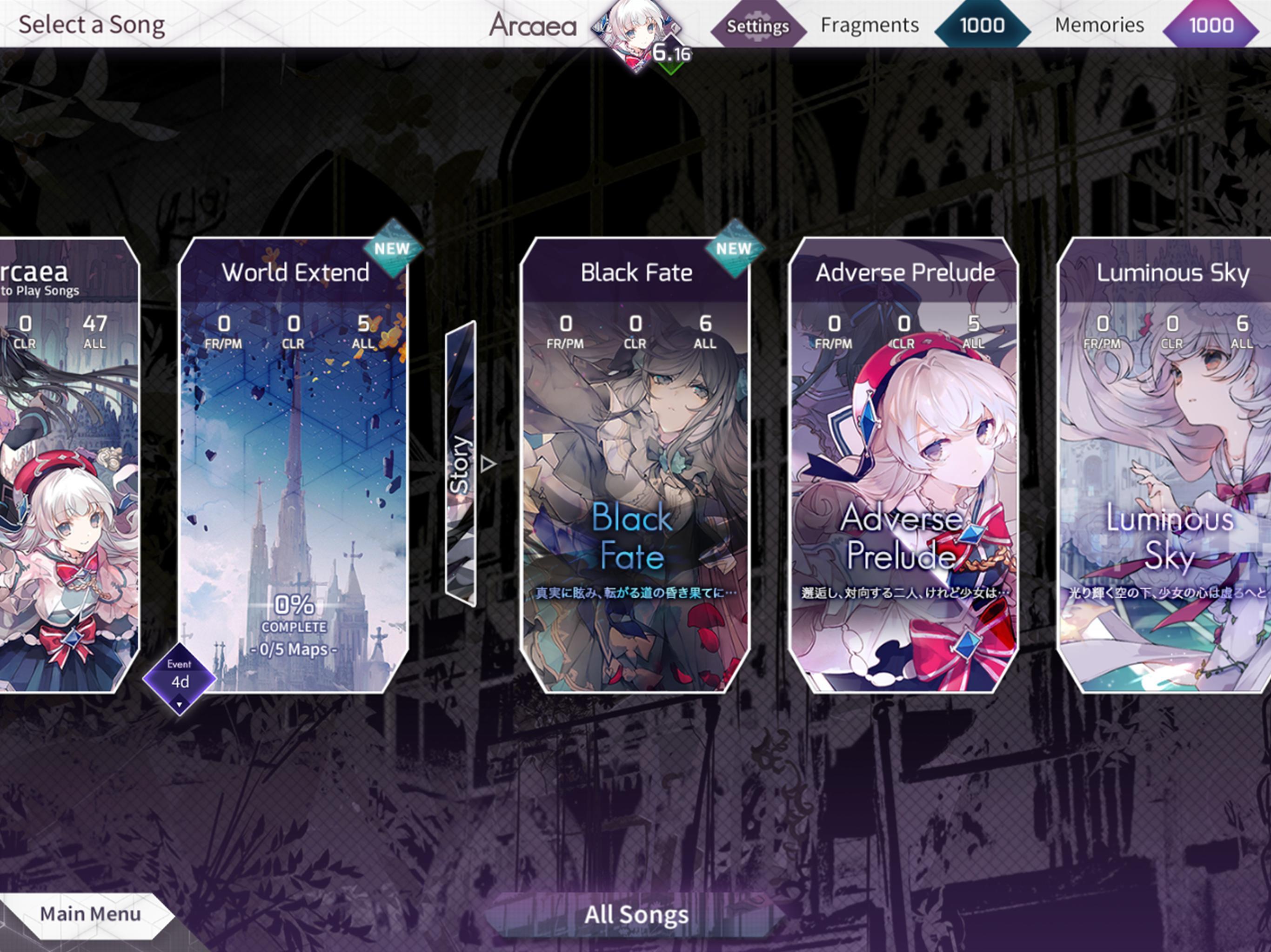 Arcaea New Dimension Rhythm Game 3.2.4 Screenshot 8