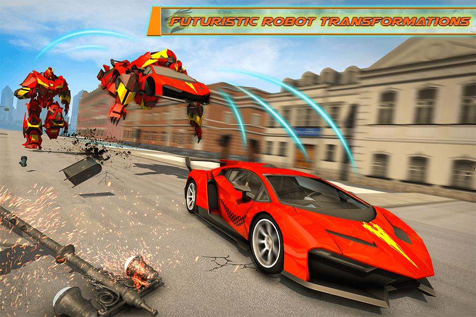 Flying Dragon Robot Car - Robot Transforming Games 2.2 Screenshot 1