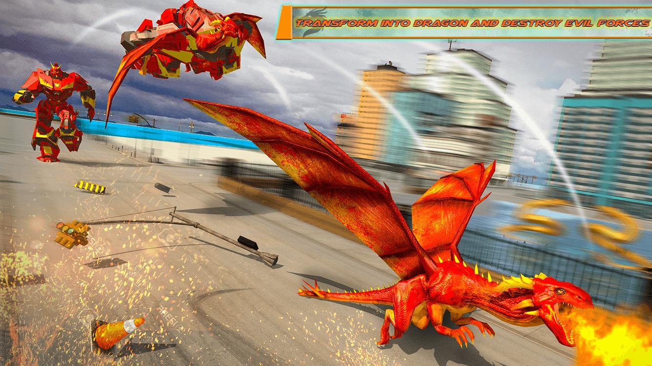Flying Dragon Robot Car - Robot Transforming Games 2.2 Screenshot 13