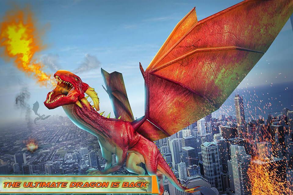 Flying Dragon Robot Car - Robot Transforming Games 2.2 Screenshot 3