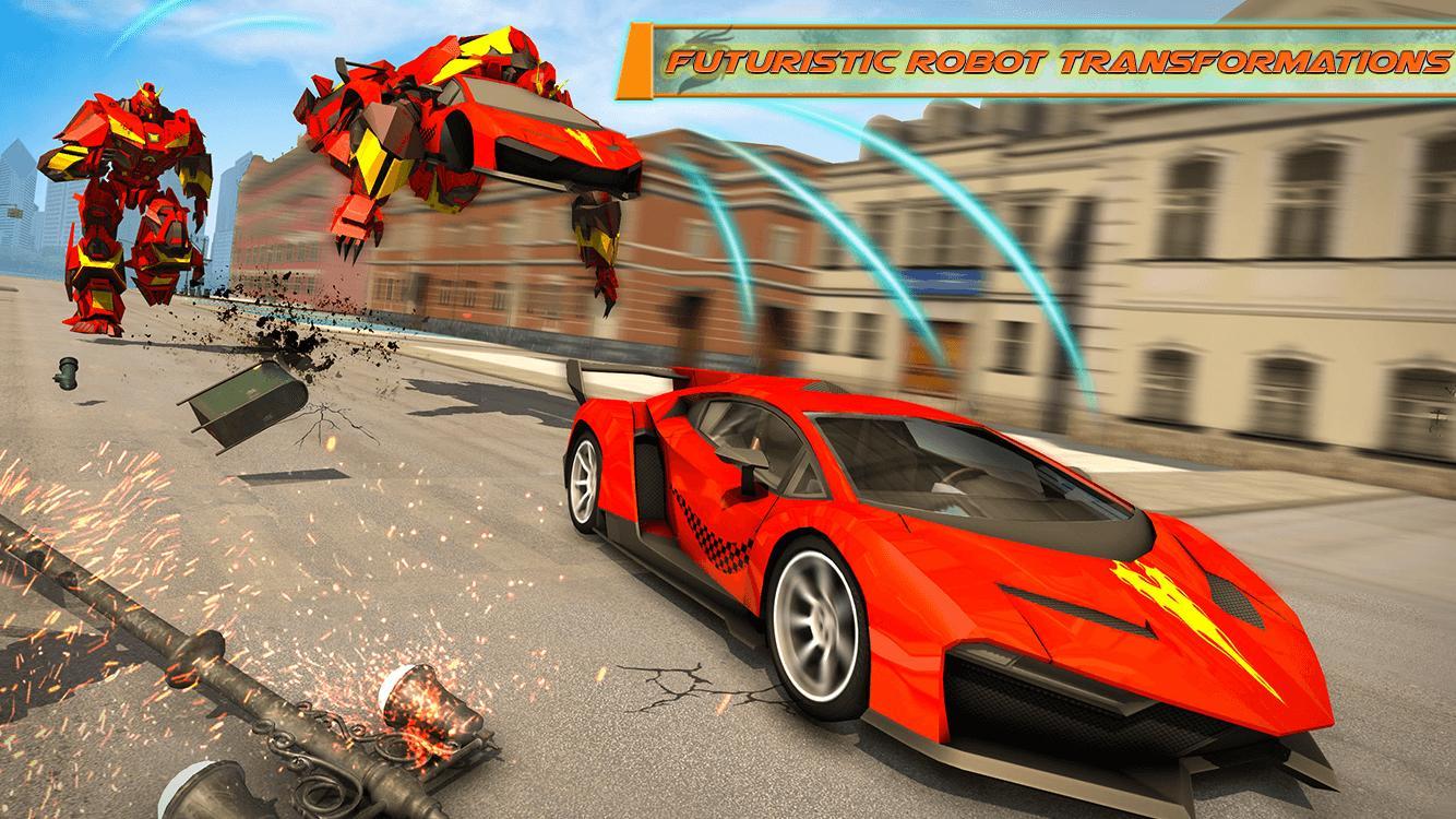 Flying Dragon Robot Car - Robot Transforming Games 2.2 Screenshot 6