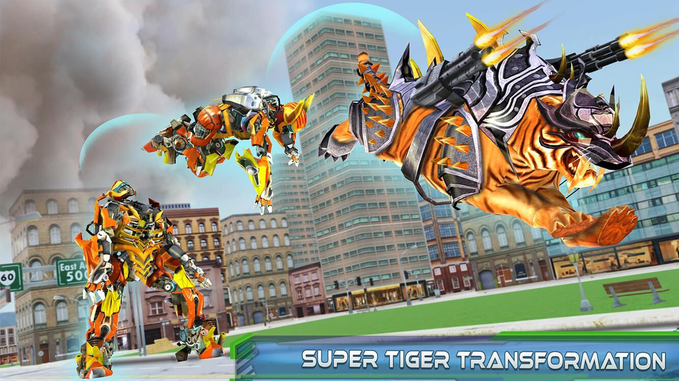 Futuristic Robot Tiger Real Robot Transformation 1.6 Screenshot 11