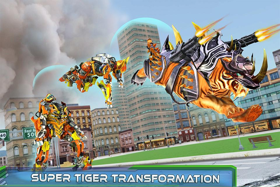 Futuristic Robot Tiger Real Robot Transformation 1.6 Screenshot 6