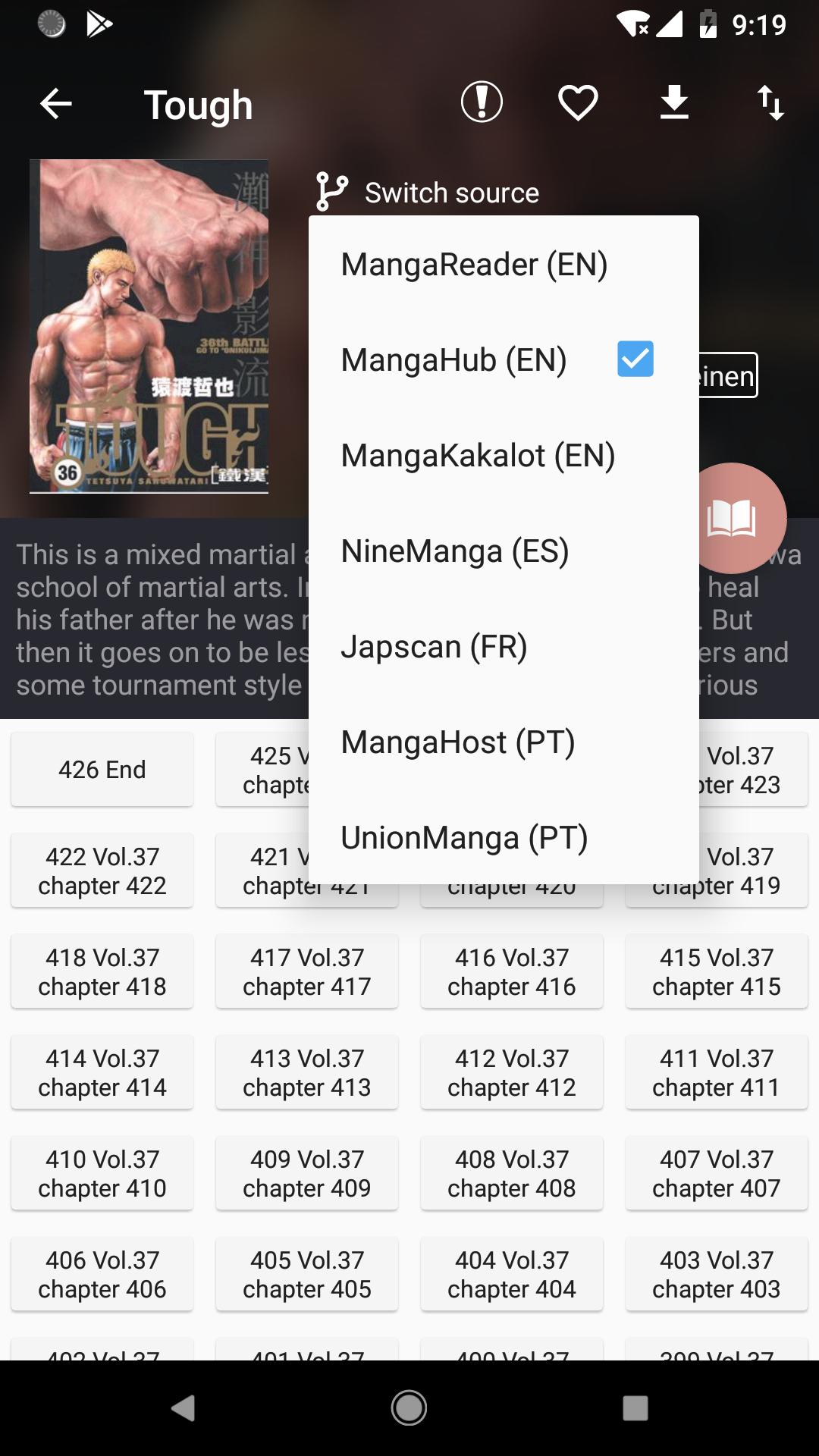Manga Geek Free Manga Reader App 1.2.1.0 Screenshot 3