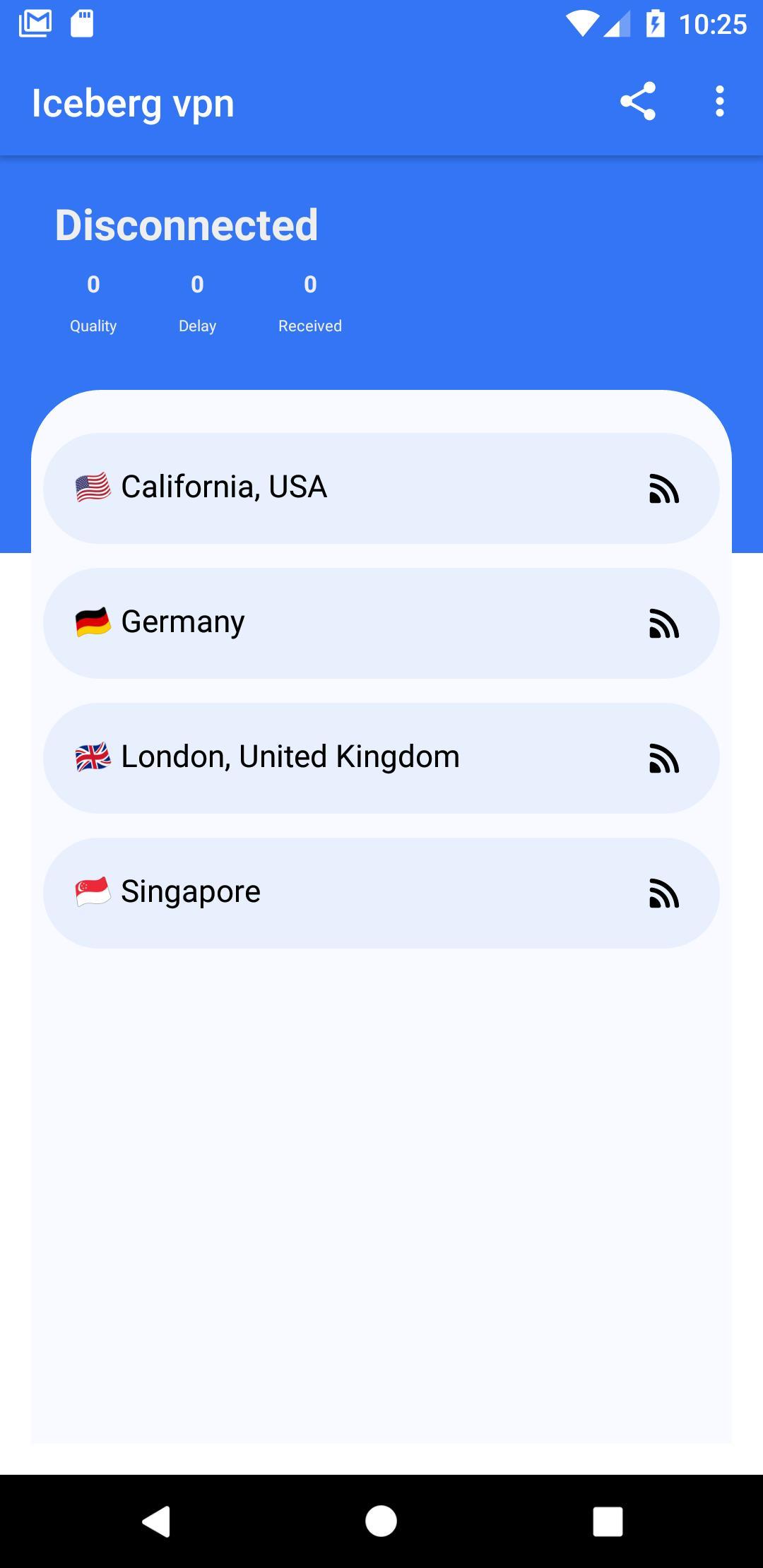 Iceberg VPN, Free Unlimited Secure VPN Proxy 1.34 Screenshot 1