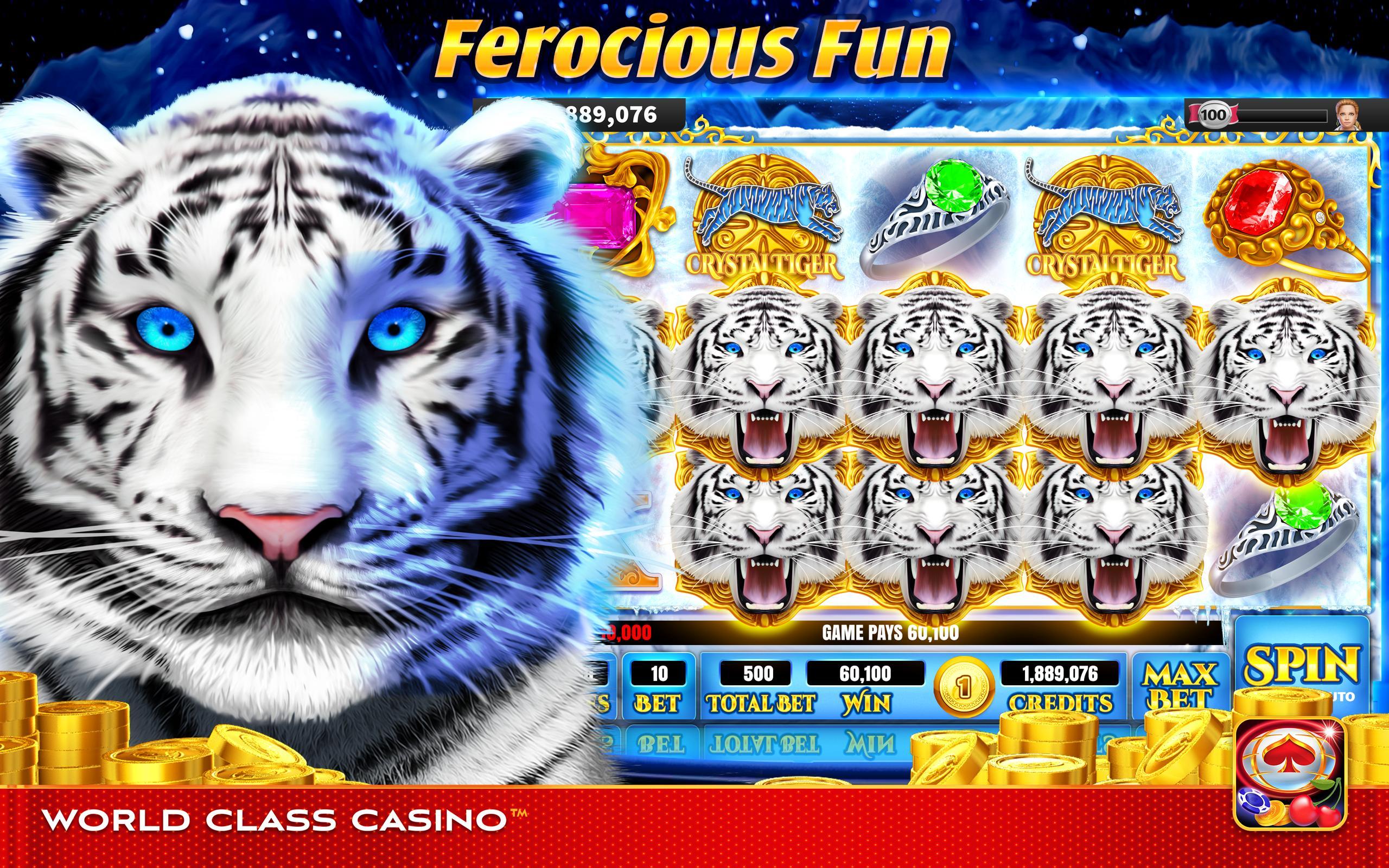 World Class Casino Slots, Blackjack & Poker Room 8.0.4 Screenshot 1