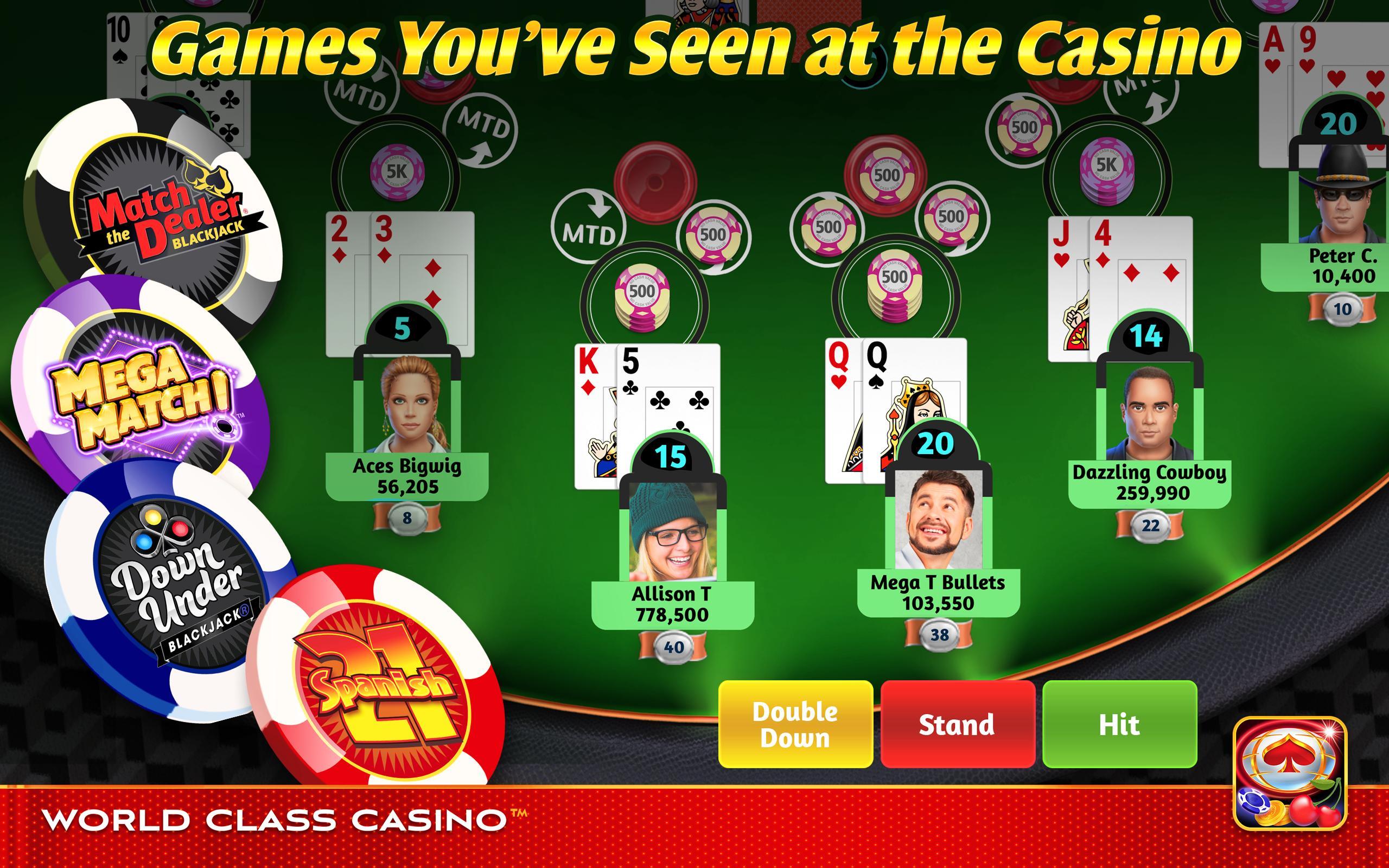 World Class Casino Slots, Blackjack & Poker Room 8.0.4 Screenshot 20