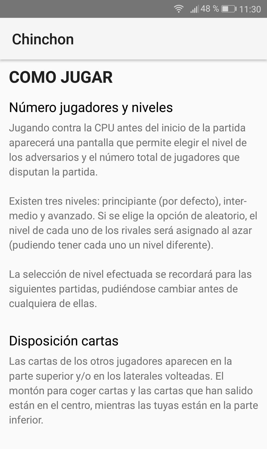 Chinchón 1.7 Screenshot 4