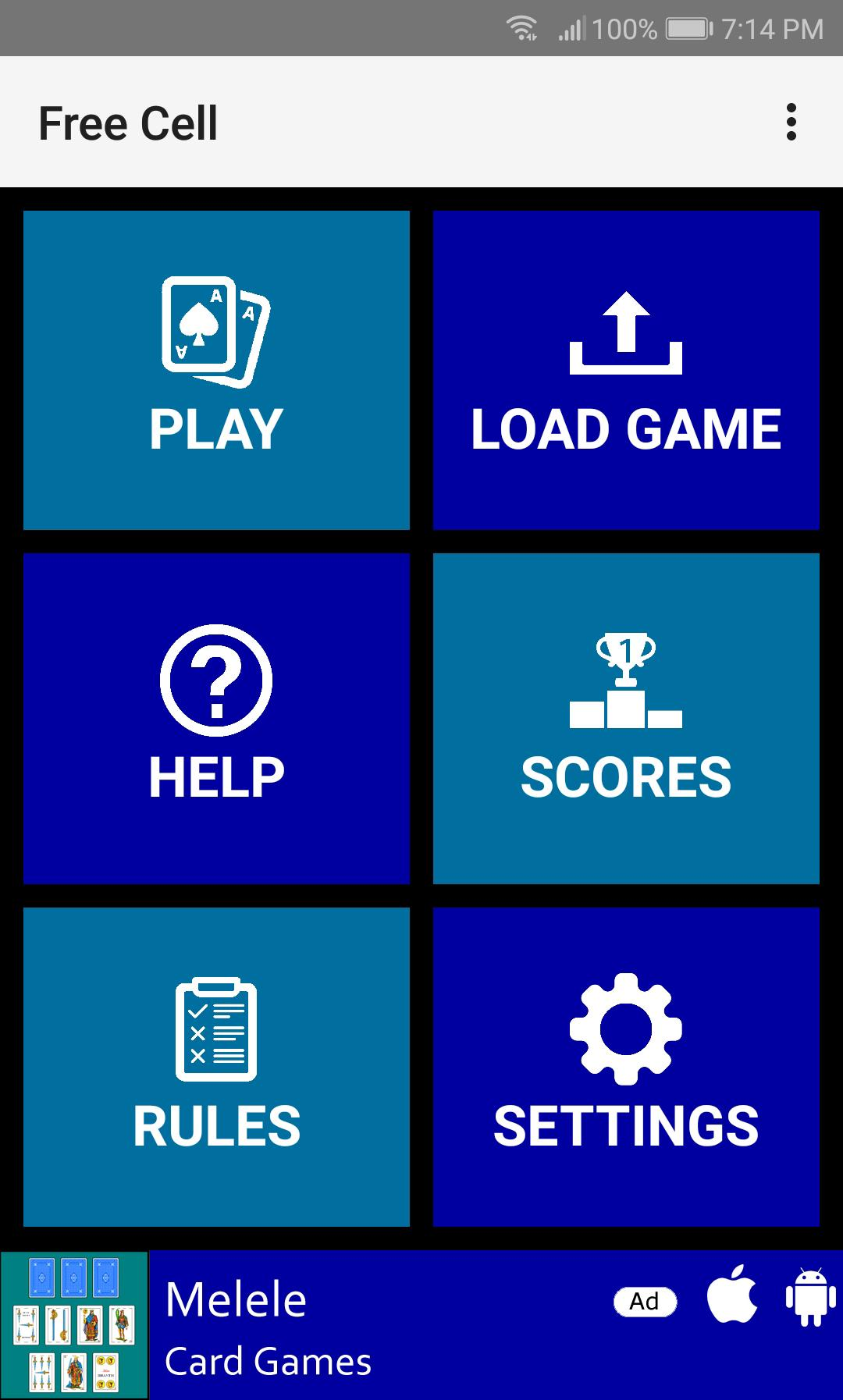 Free Cell 1.11 Screenshot 1