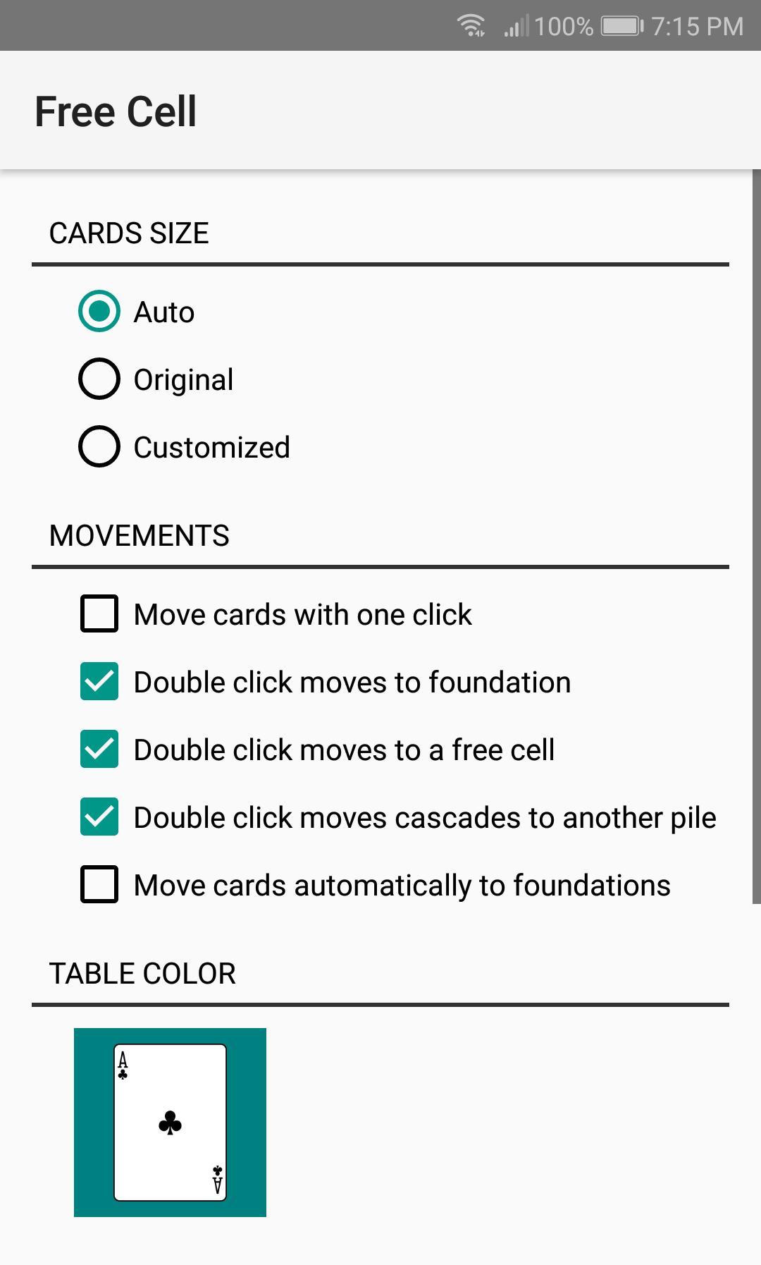Free Cell 1.11 Screenshot 8