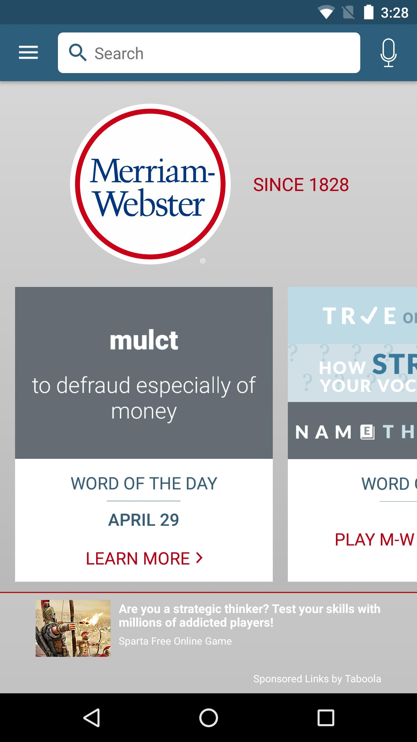 Dictionary - Merriam-Webster 4.3.4 Screenshot 1