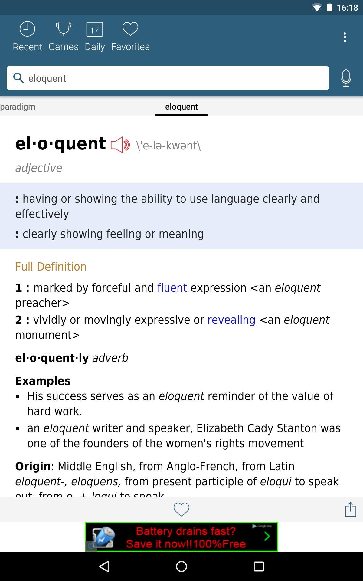 Dictionary - Merriam-Webster 4.3.4 Screenshot 11
