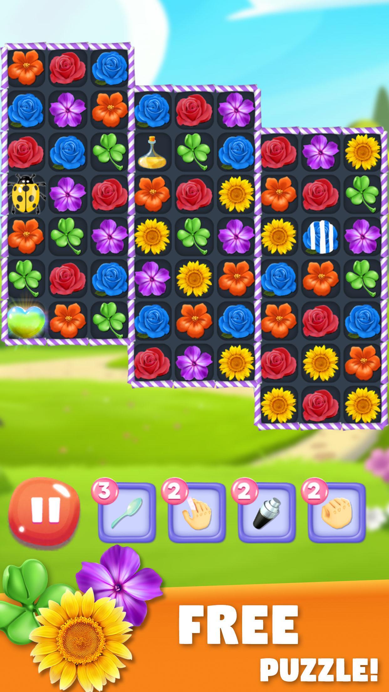 Blossom Bloom Flower Blast Match 3 Games 1.9 Screenshot 1