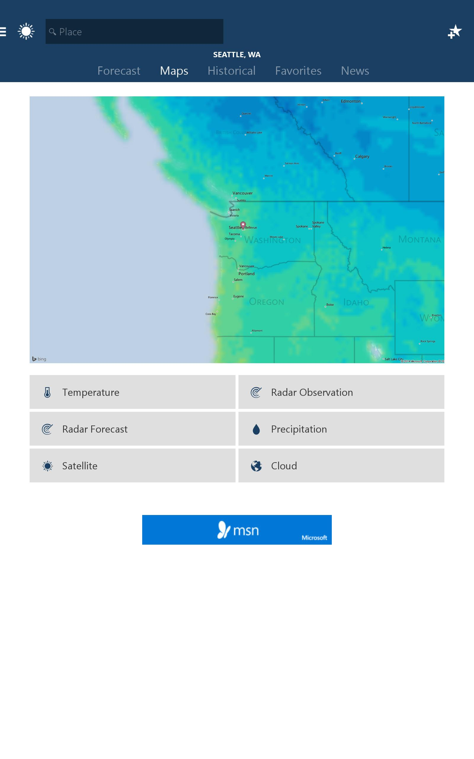 MSN Weather - Forecast & Maps 1.2.0 Screenshot 6