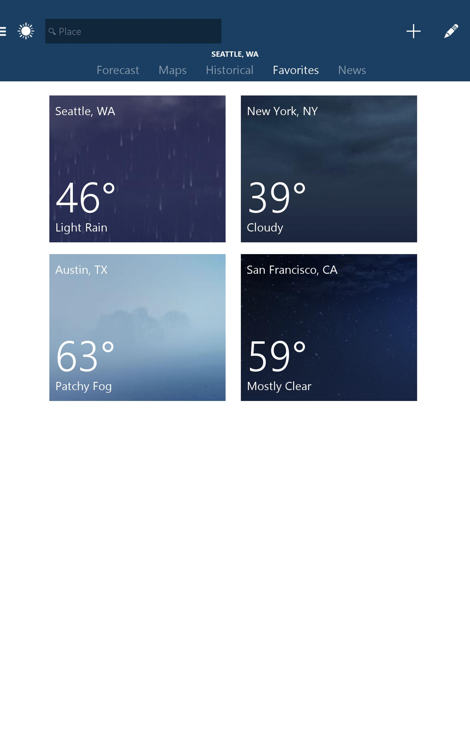 MSN Weather - Forecast & Maps 1.2.0 Screenshot 8