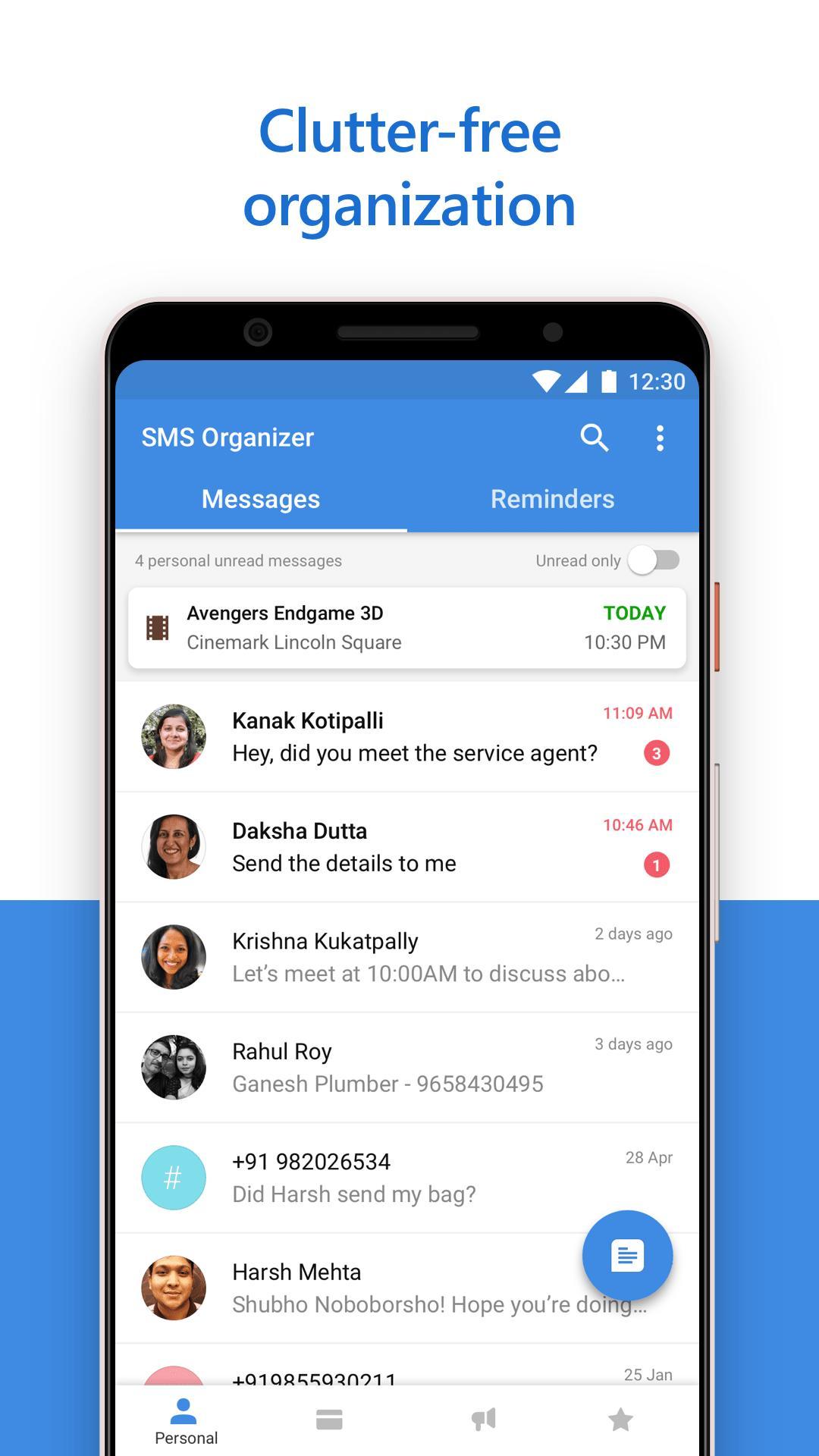SMS Organizer 1.1.164 Screenshot 1