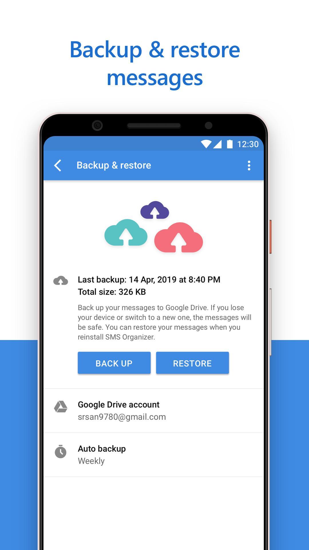 SMS Organizer 1.1.164 Screenshot 3