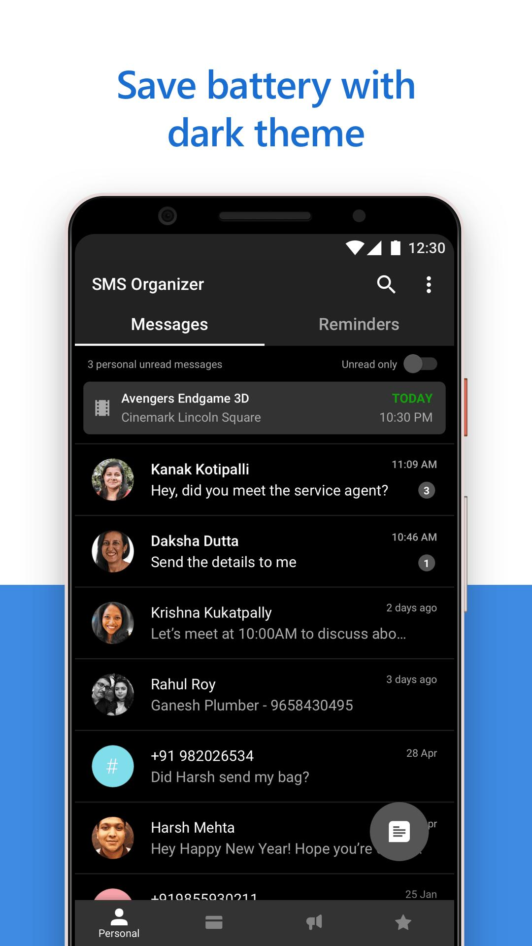 SMS Organizer 1.1.164 Screenshot 5