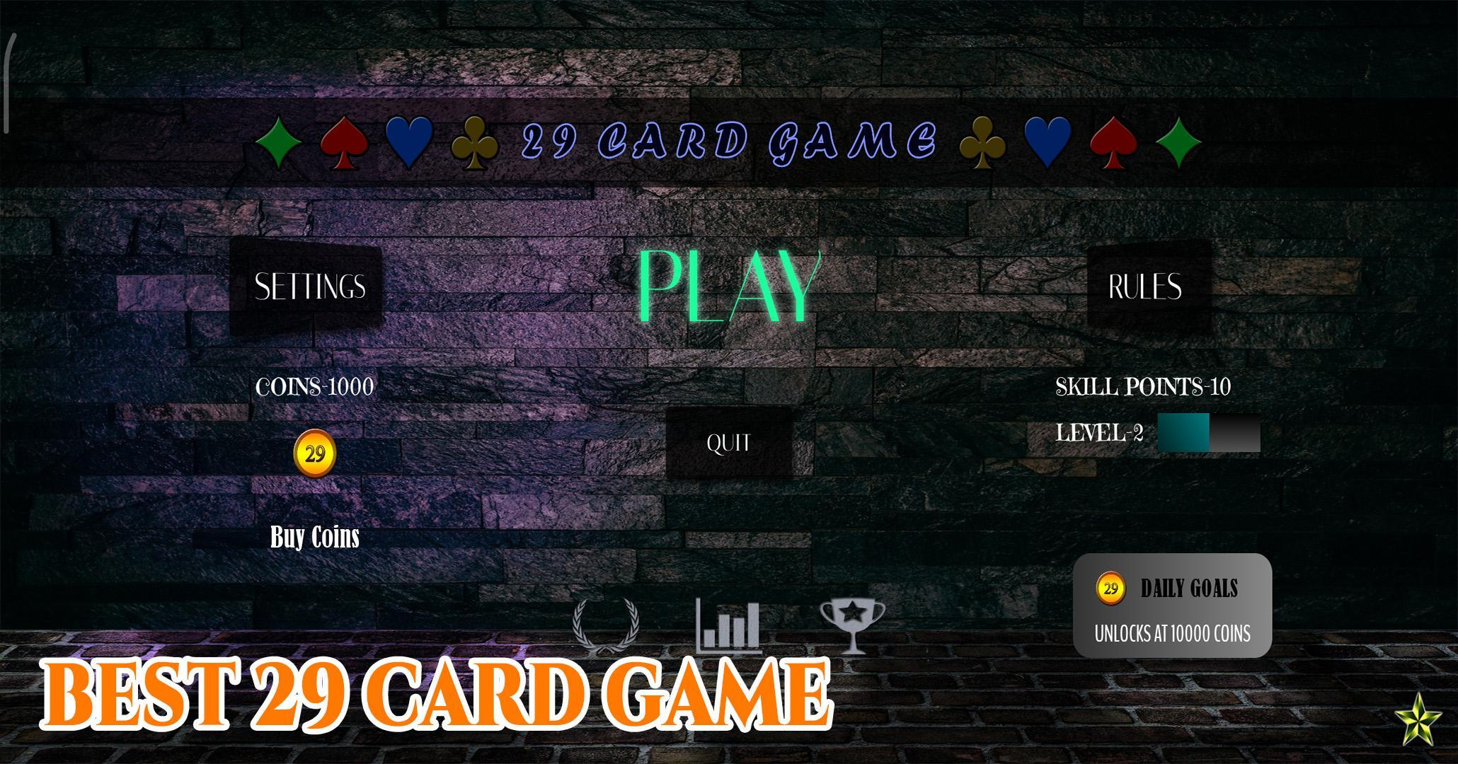 29 Card Game 4.0.10 Screenshot 1
