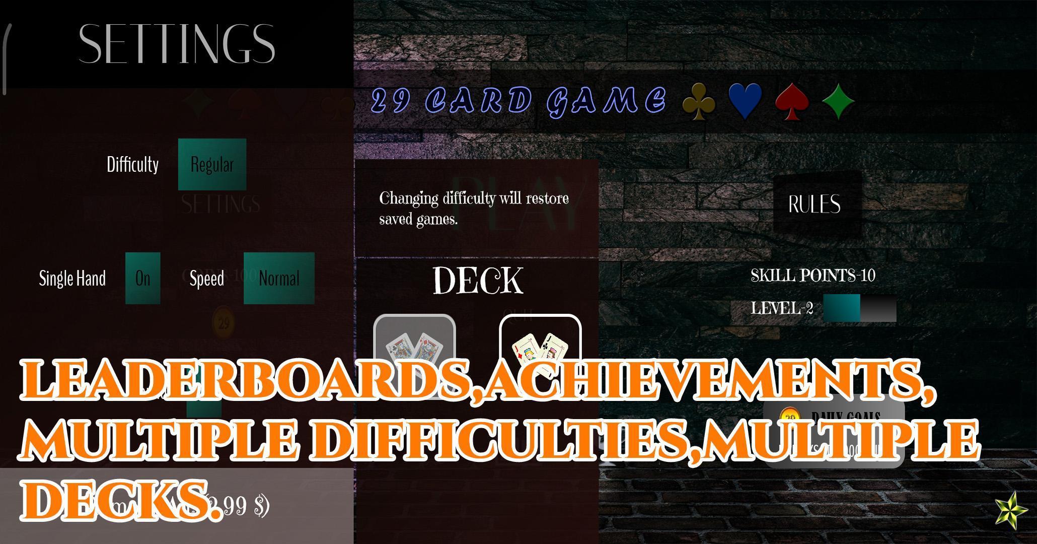 29 Card Game 4.0.10 Screenshot 6