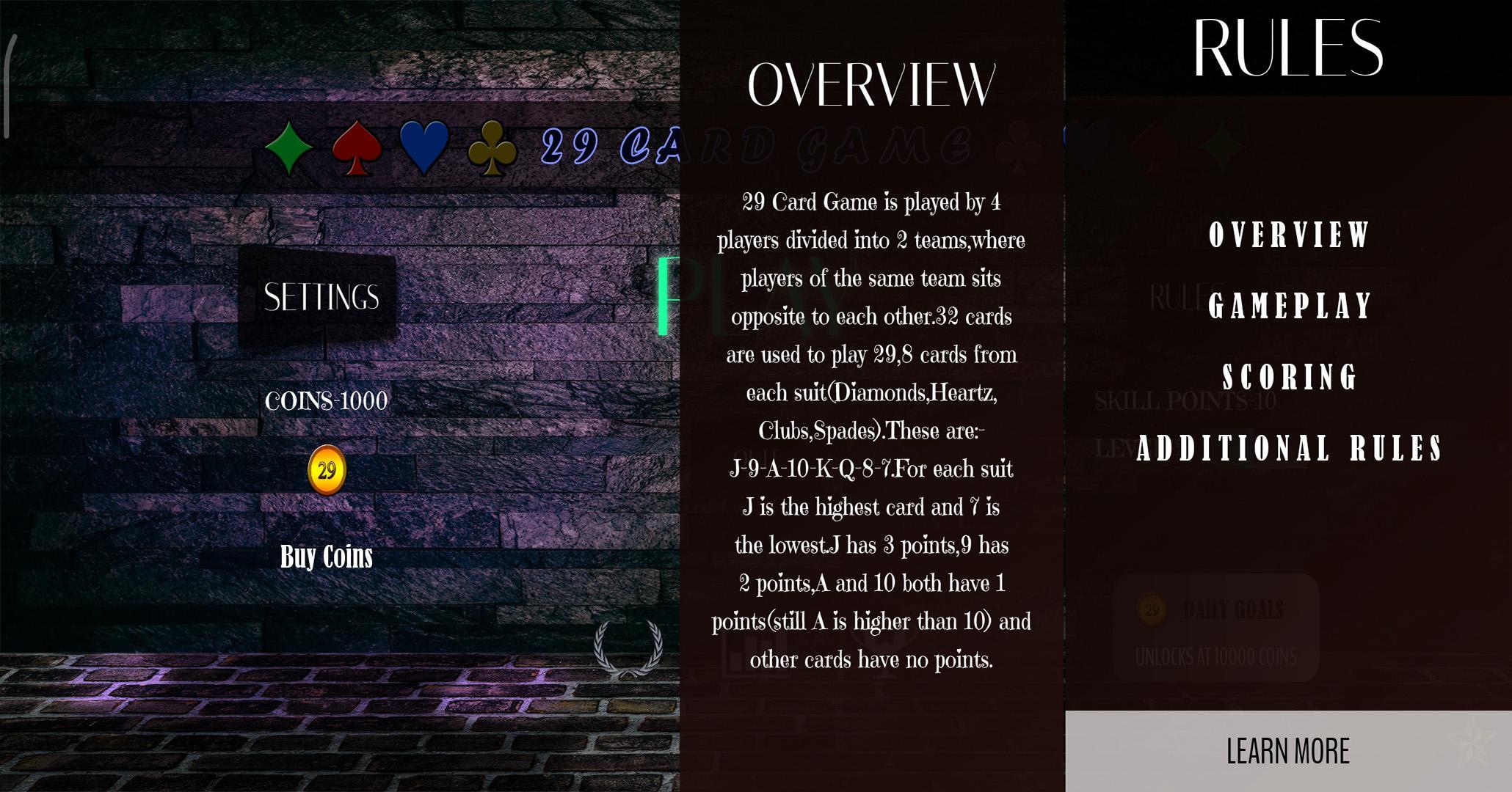 29 Card Game 4.0.10 Screenshot 7