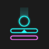 Neon Descent - ball bounce game app icon