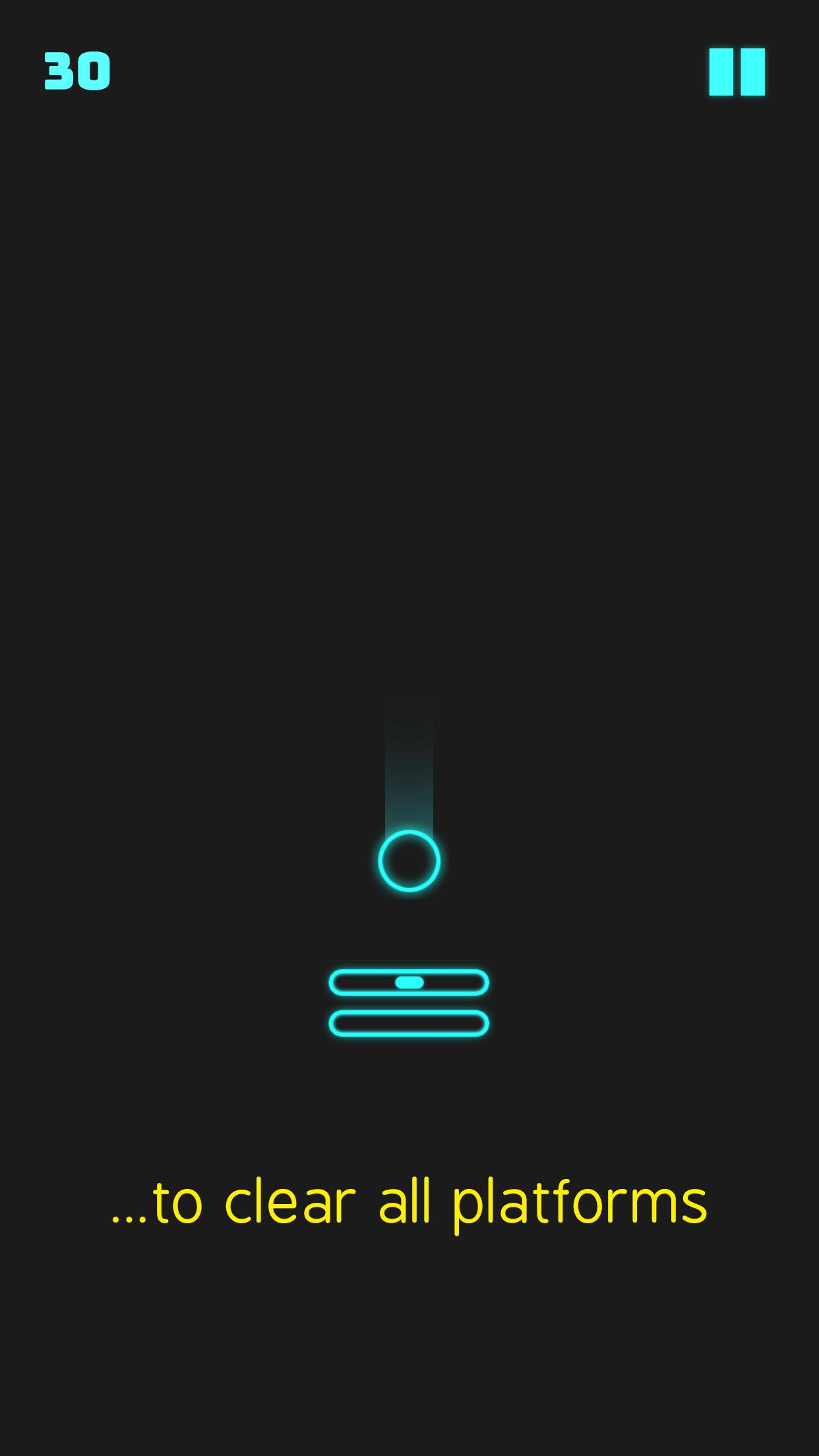Neon Descent - ball bounce game 1.3 Screenshot 7
