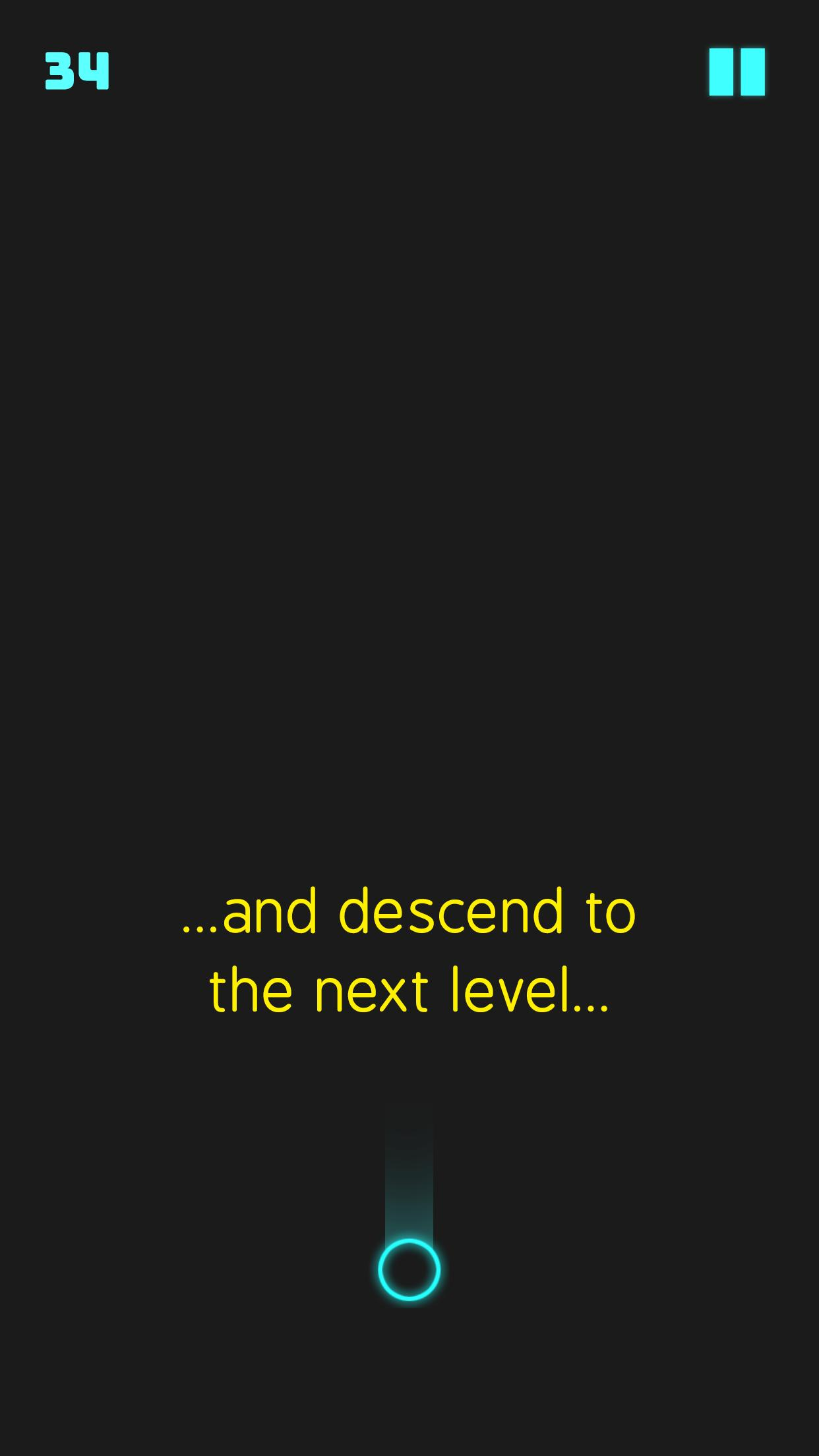 Neon Descent - ball bounce game 1.3 Screenshot 8