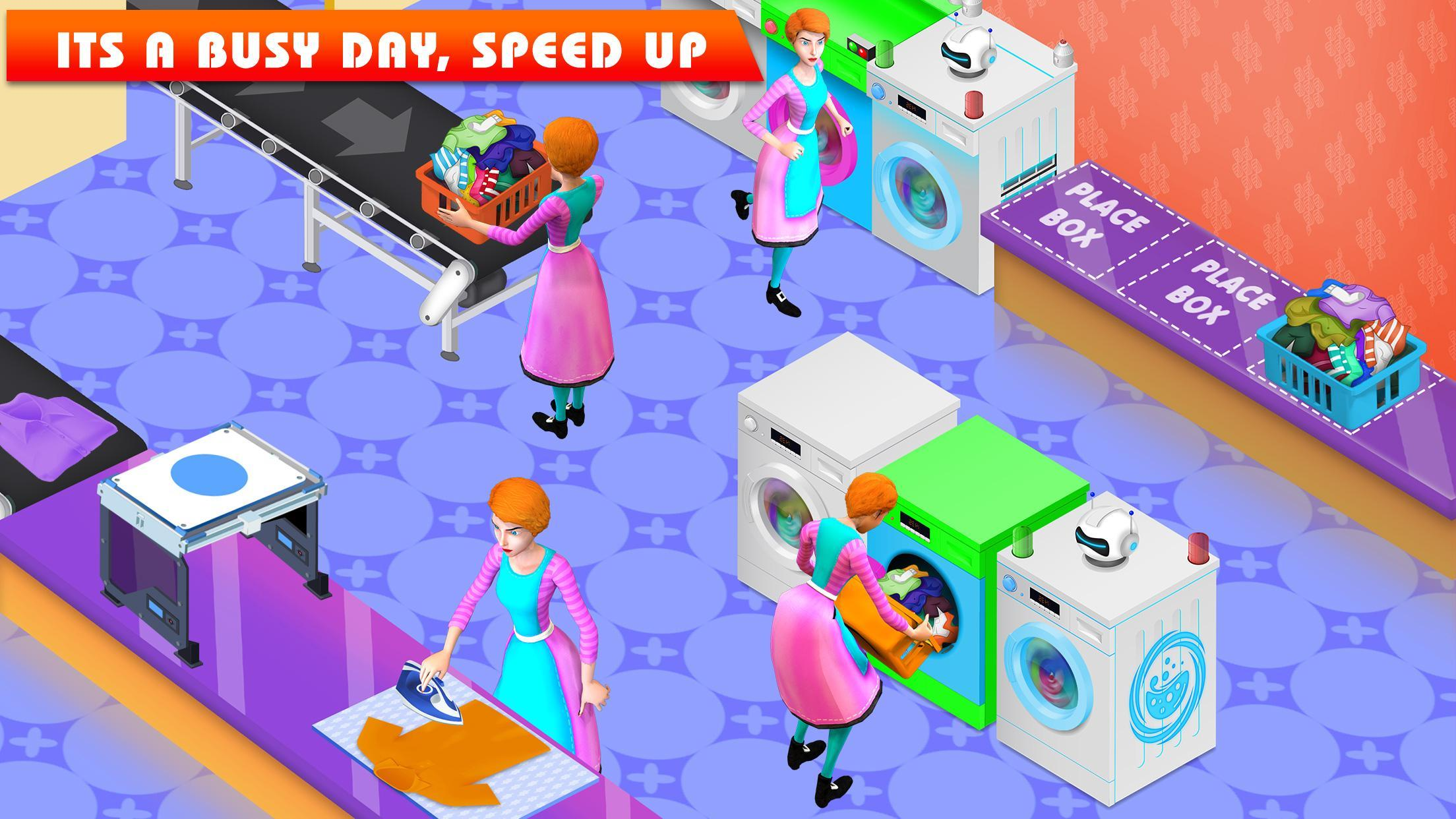 My Laundry Shop Manager: Dirty Clothes Washing 1.2 Screenshot 1