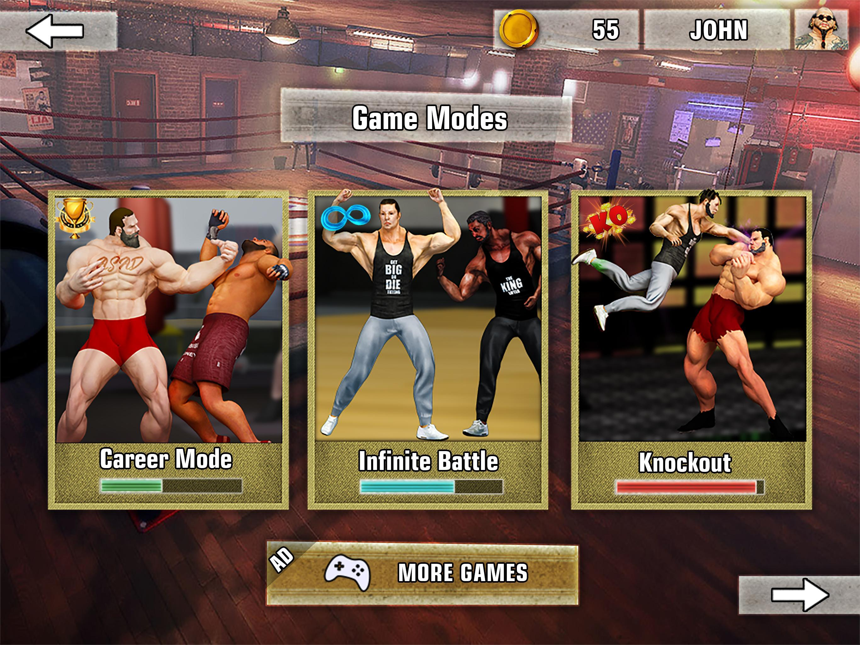 Bodybuilder Fighting Club 2019: Wrestling Games 1.1.4 Screenshot 12