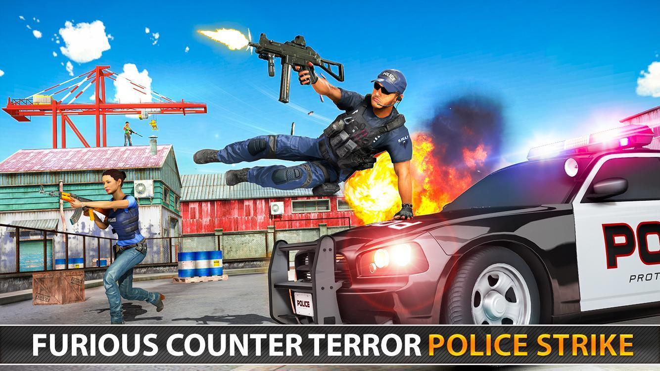 Police Counter Terrorist Shooting - FPS Strike War 2.9 Screenshot 16