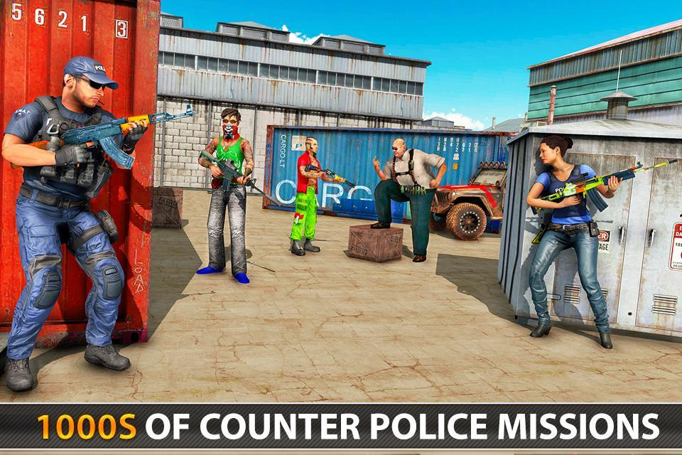 Police Counter Terrorist Shooting - FPS Strike War 2.9 Screenshot 6