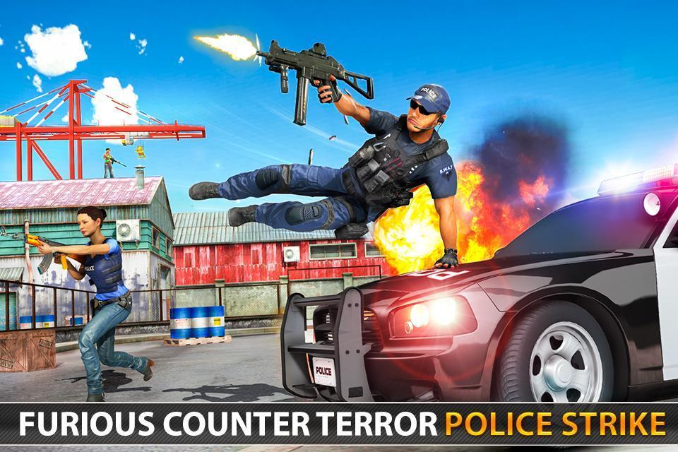 Police Counter Terrorist Shooting - FPS Strike War 2.9 Screenshot 7