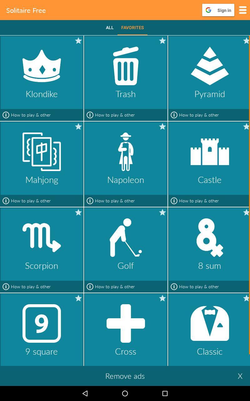 Solitaire Free 4.9.10.3 Screenshot 10
