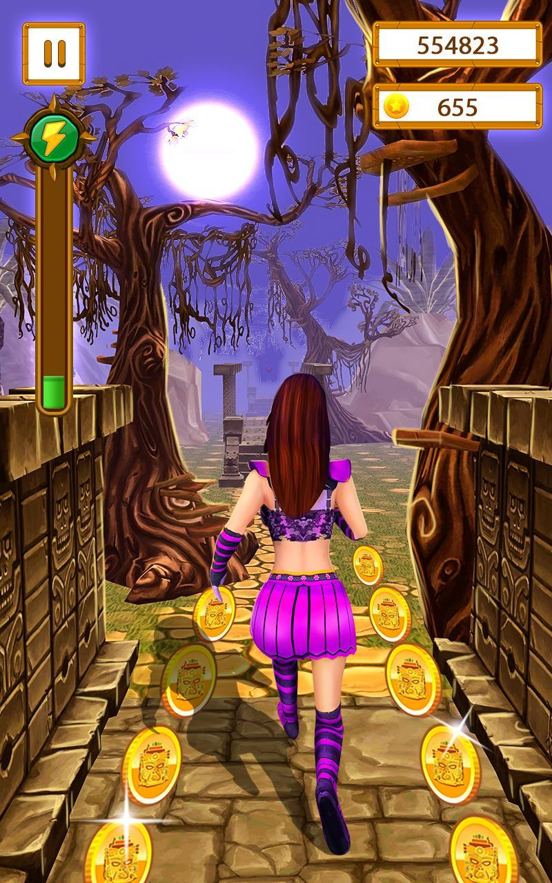 Scary Temple Final Run Lost Princess Running Game 2.9 Screenshot 1