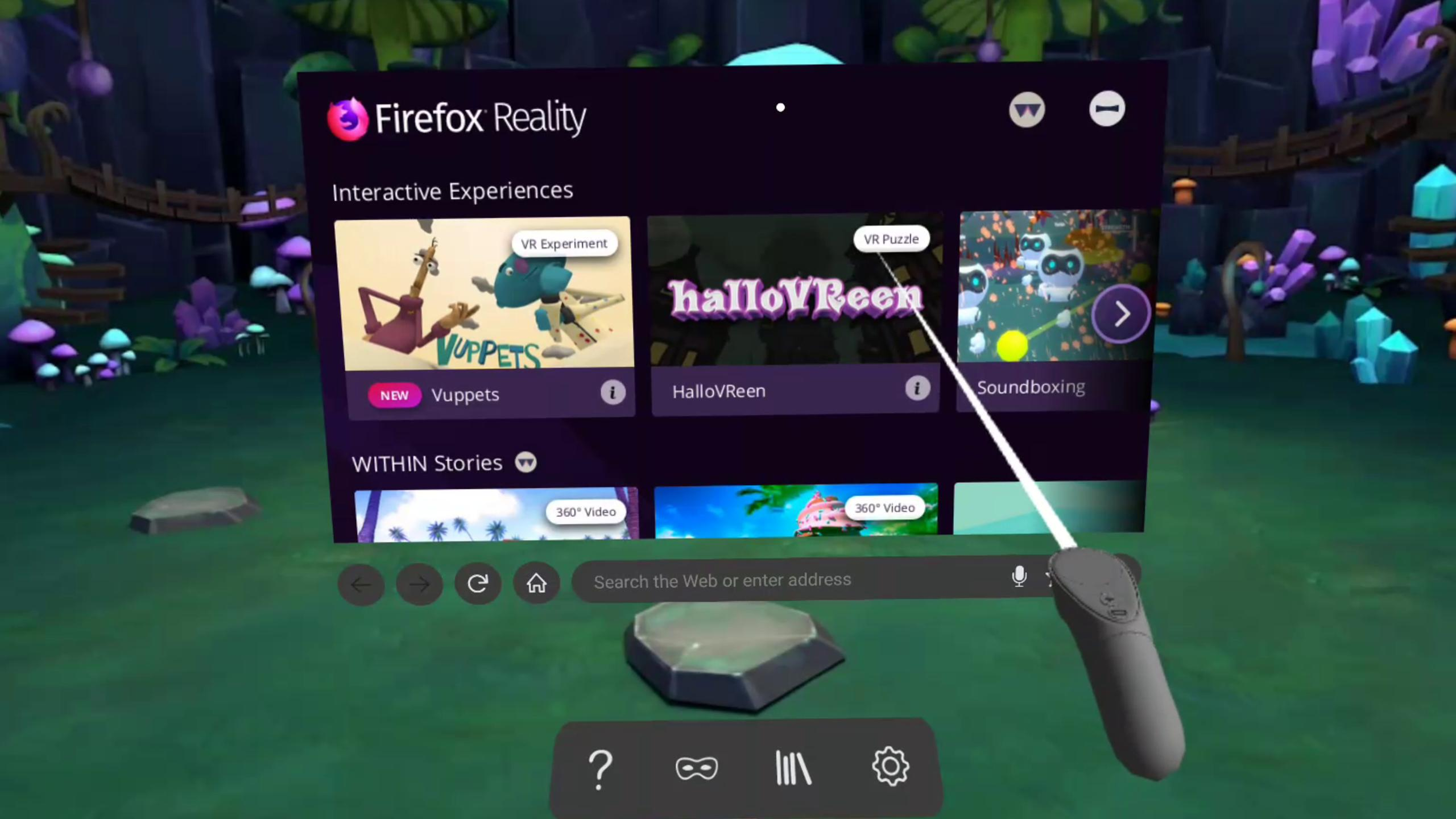 Firefox Reality Browser fast & private 1.1.3 Screenshot 1