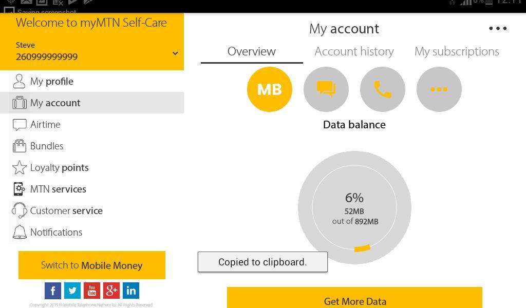 MyMTN 3.0.1 Screenshot 10
