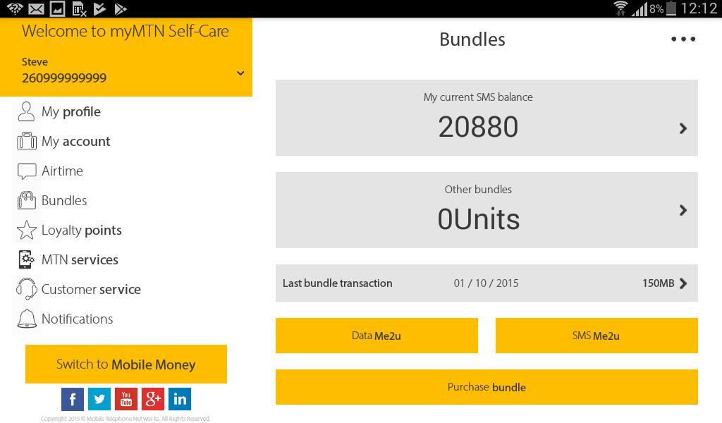 MyMTN 3.0.1 Screenshot 12