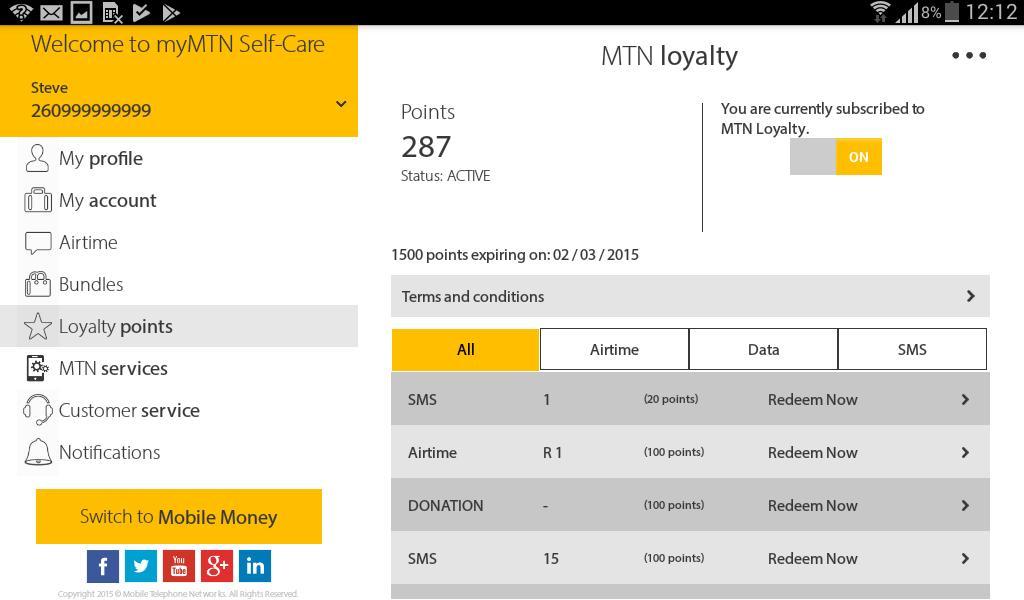 MyMTN 3.0.1 Screenshot 15