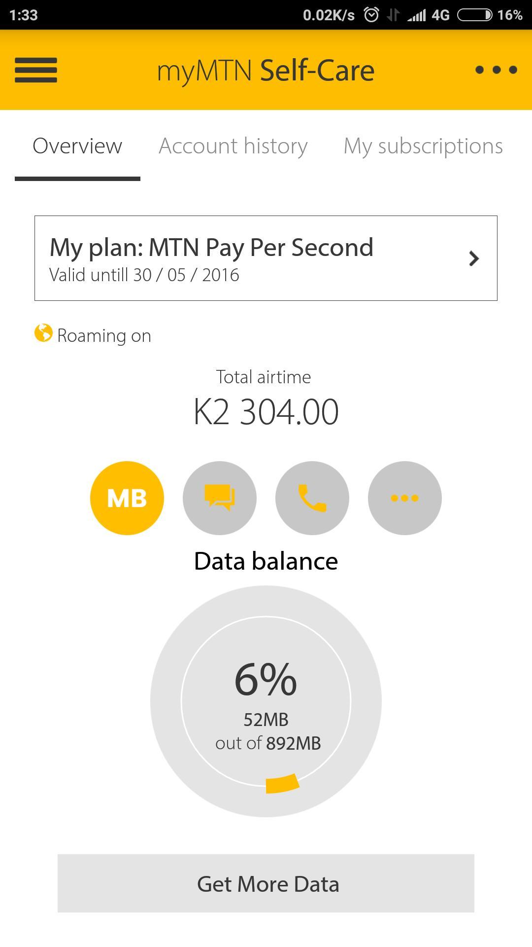MyMTN 3.0.1 Screenshot 2