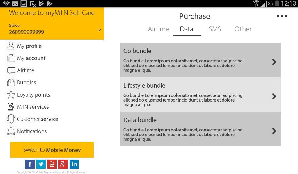 MyMTN 3.0.1 Screenshot 24