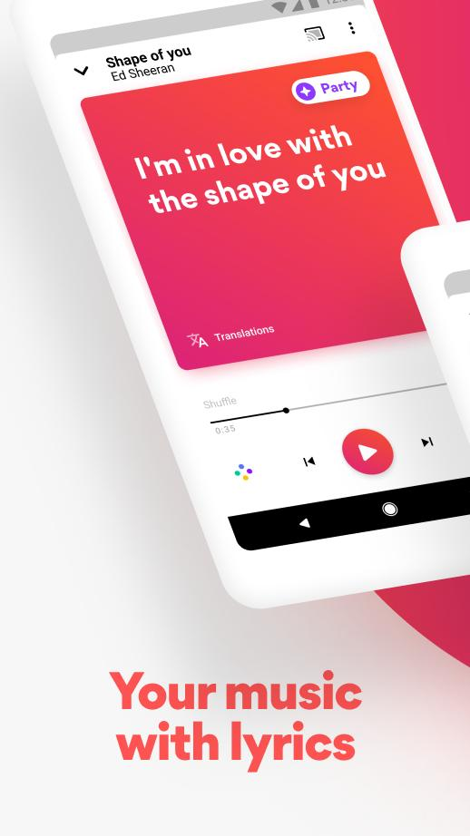 Musixmatch Lyrics for your music 7.5.1 Screenshot 1