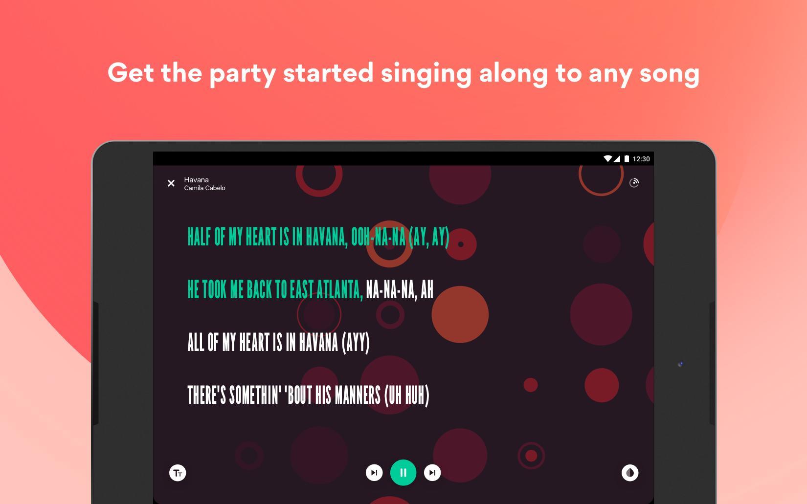 Musixmatch Lyrics for your music 7.5.1 Screenshot 13