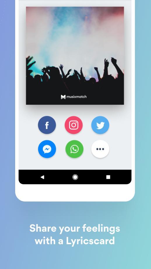 Musixmatch Lyrics for your music 7.5.1 Screenshot 7