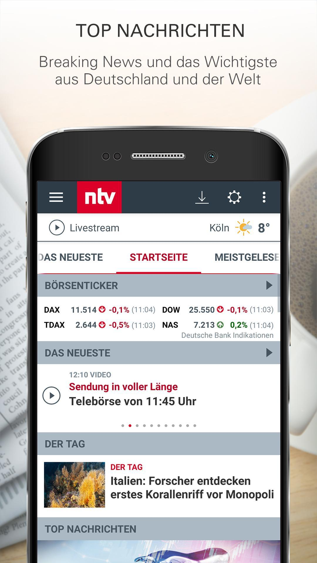 ntv Nachrichten 5.7.0.2 Screenshot 1