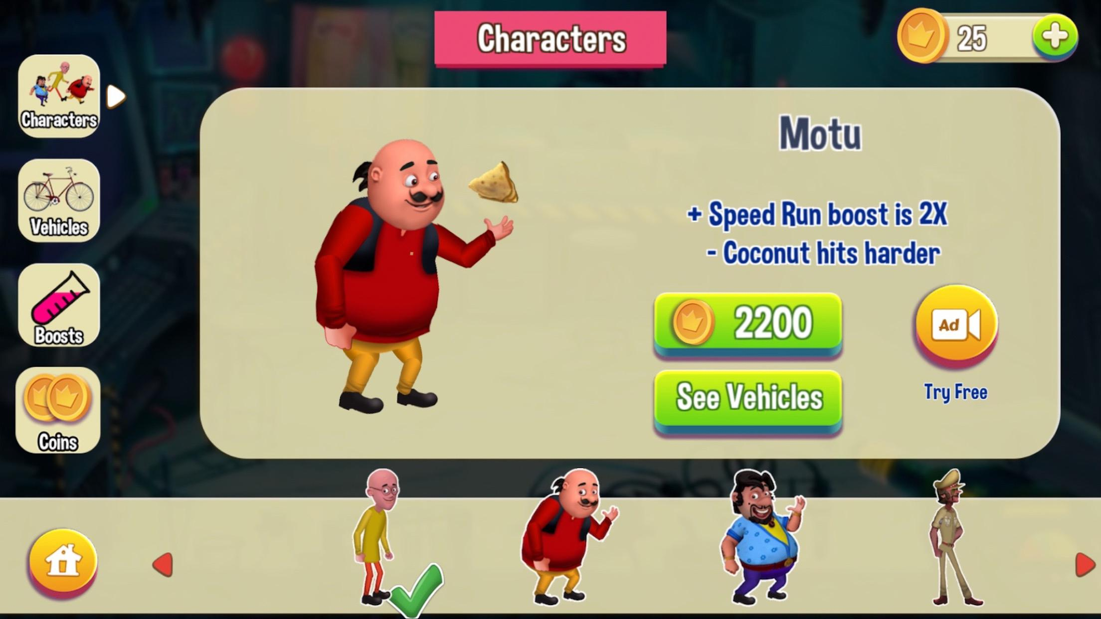 Motu Patlu Game 1.3 Screenshot 2